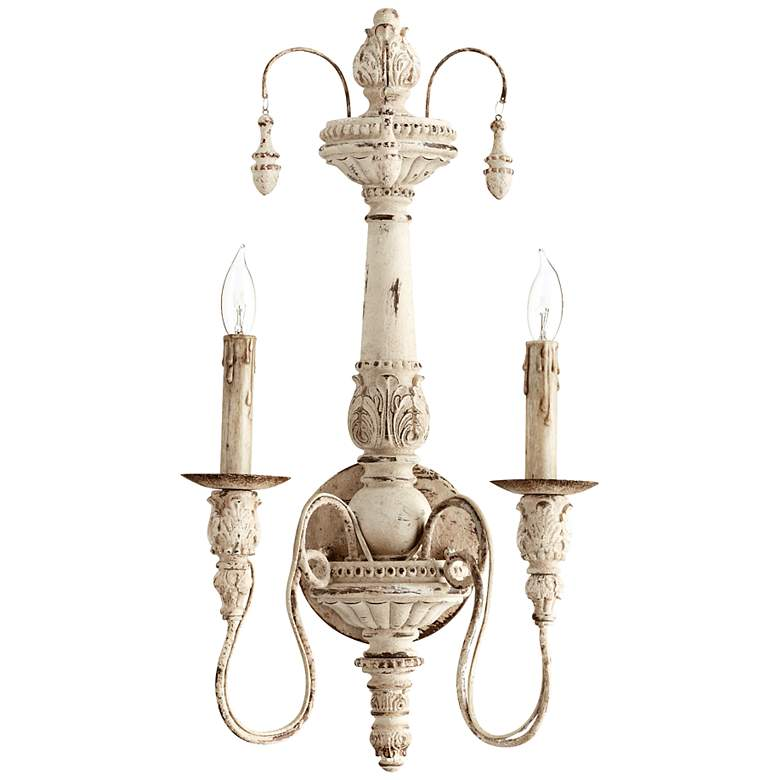 """Quorum Salento Collection 11 1/2"""" Wide Persian White Sconce"""