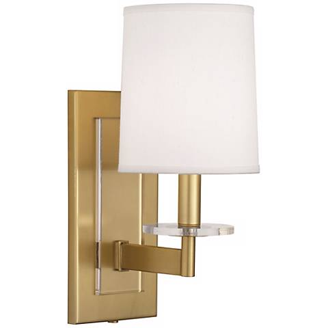 Robert Abbey Antique Brass Alice Plug-In Wall Sconce