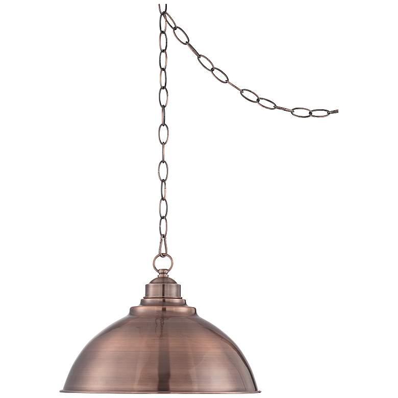 """Southton Copper Dome 13 1/4"""" Wide Pendant Light"""