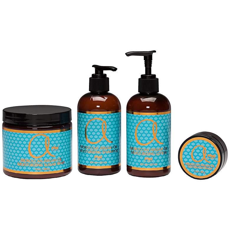 Moroccan Argan Oil 4-Piece Personal Skin Care Set