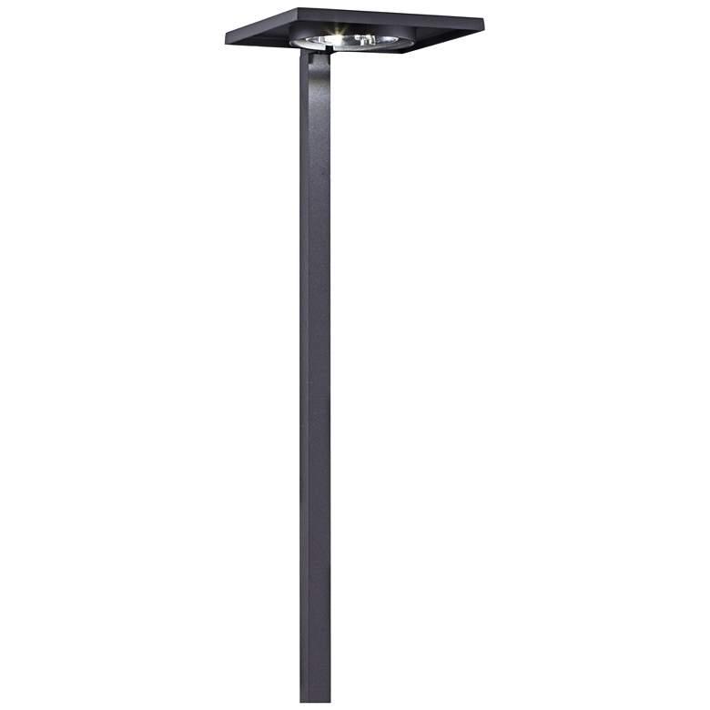"Kichler 6"" Wide 3000K LED Shallow Shade Black Path Light"