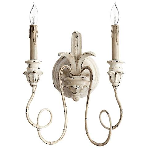 """Quorum Salento Collection 14"""" High Persian White Sconce"""