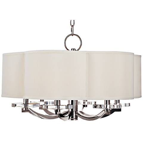"Hudson Valley Garrison 26"" Wide Polished Nickel Chandelier"