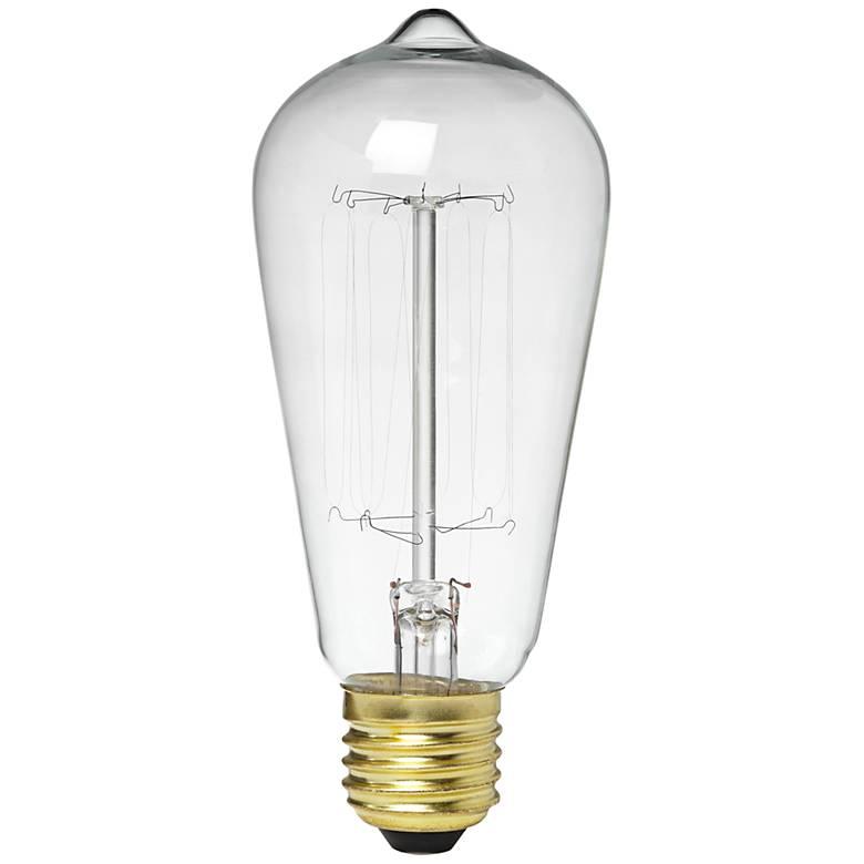 Clear Glass 60 Watt Edison Style Light Bulb