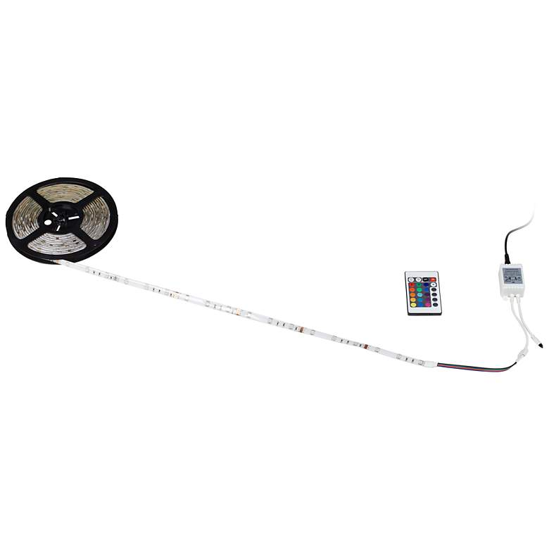 Color LED Tape Light Kit 16 1/2-Foot with Remote Control