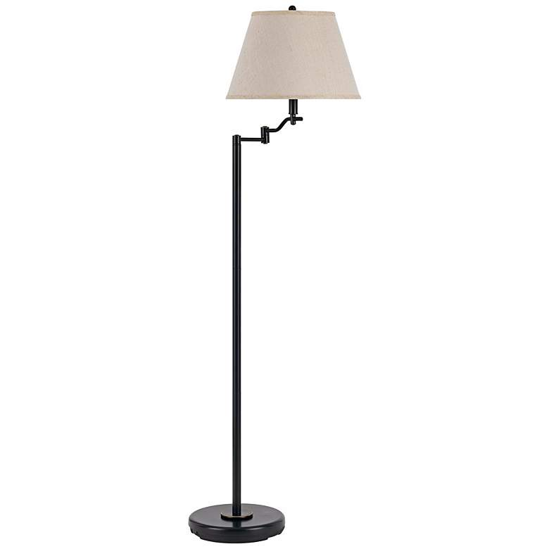 Stila Dark Bronze Swing Arm Floor Lamp