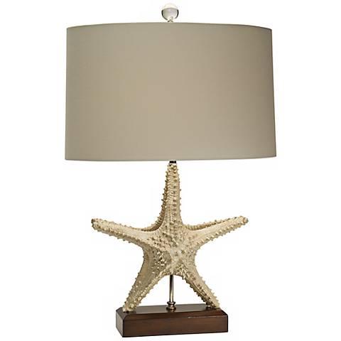 Natural Light Standing Star Sailcloth Table Lamp