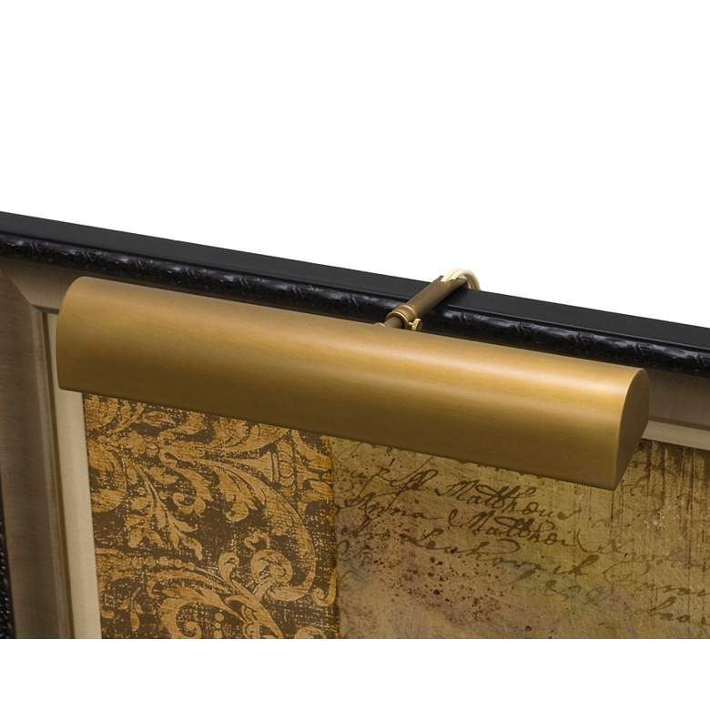 """Classic Traditional 14"""" Wide Weathered Brass Picture Light"""