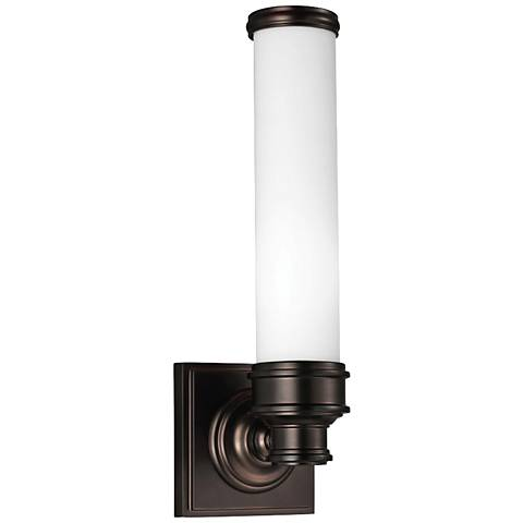 "Feiss Payne 14 1/4"" High Dark Plated Bronze Wall Sconce"