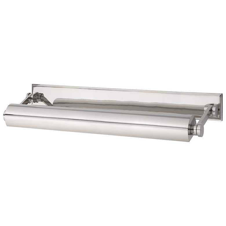 """Hudson Valley Merrick 24 1/2""""W Polished Nickel Picture Light"""