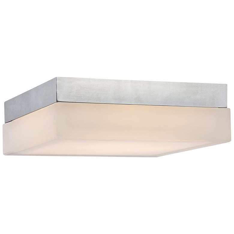 "dweLED Dice 9"" Wide Chrome Square LED Ceiling Light"