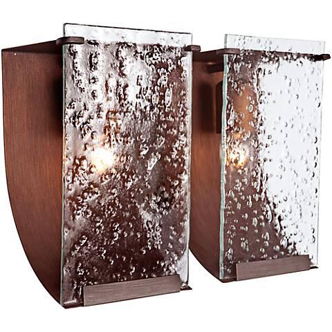 "Varaluz Rain 15""W Hammered Ore Recycled Steel Bath Light"