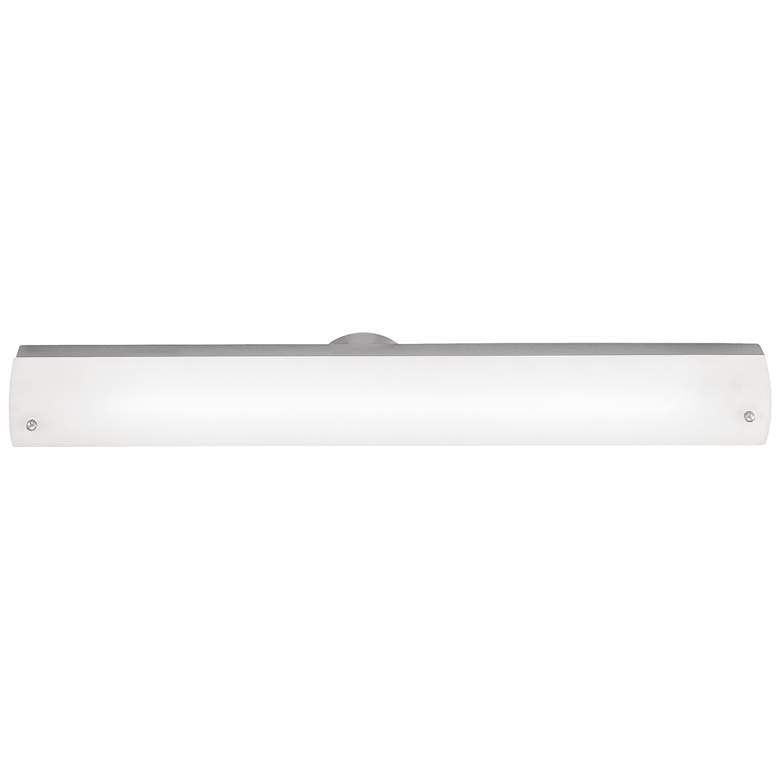 "Vail 25 1/2"" Wide Brushed Steel Opal Glass LED Bath Light"