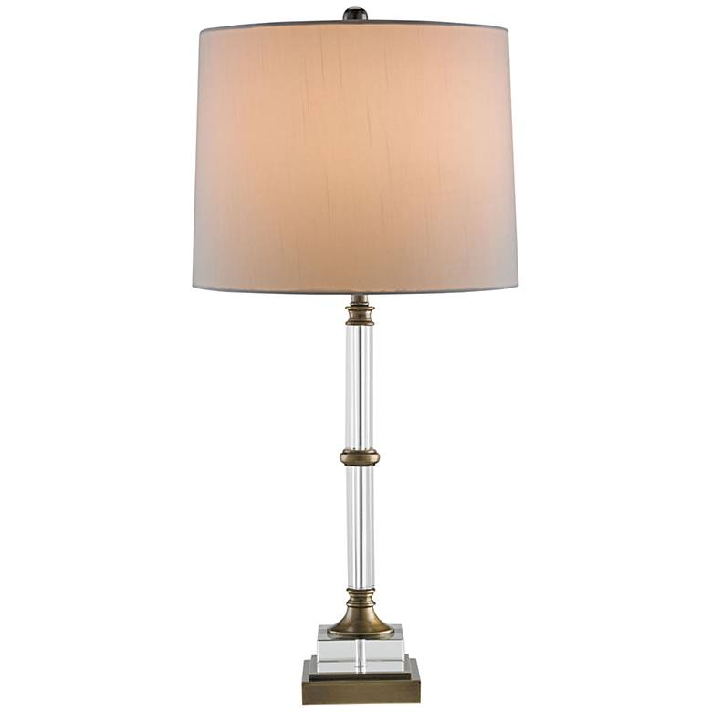 Currey and Company Curio Brass and Clear Glass Table Lamp