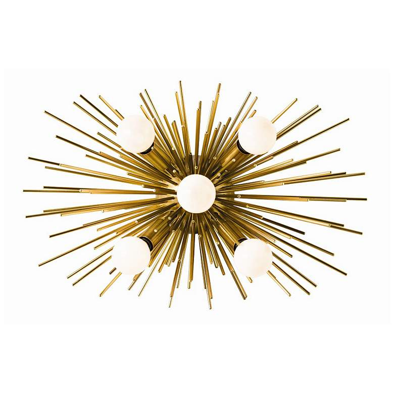 "Arteriors Home Zanadoo 12"" High Antique Brass Wall Sconce"
