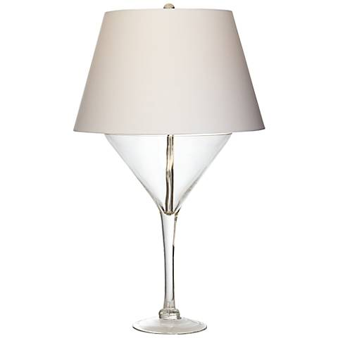 Clear Martini Glass Novelty Glass Table Lamp