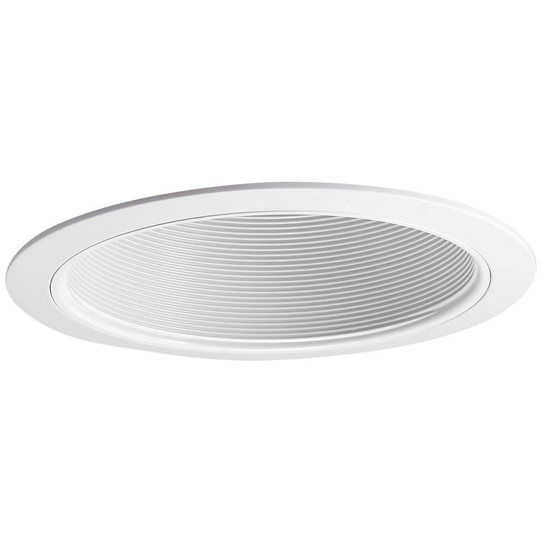 Nora 100-Watt White Phenolic Stepped Recessed Lighting Trim