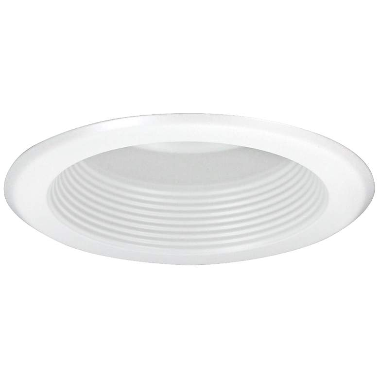 "Nora 5"" Wide White Baffle Splay Recessed Lighting"