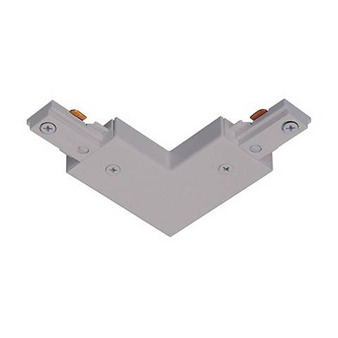 Silver L-Connector Track Joiner for Halo Single Circuit