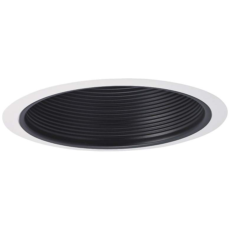 """Nora 7"""" Wide Black and White Stepped Recessed Lighting Trim"""