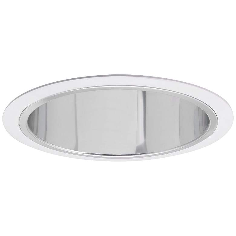 Nora 7 Wide Chrome And White Recessed Lighting Trim