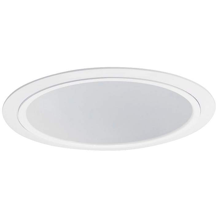 Wide White Recessed Lighting Trim