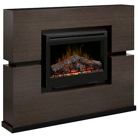 Linwood Gray Rift Electric Fireplace 3h627 Lamps Plus