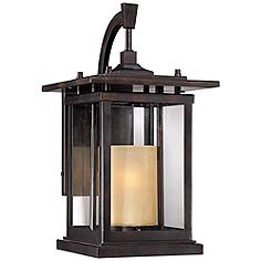 """Foxmoore Collection 14 1/2"""" High Bronze Outdoor Wall Light"""