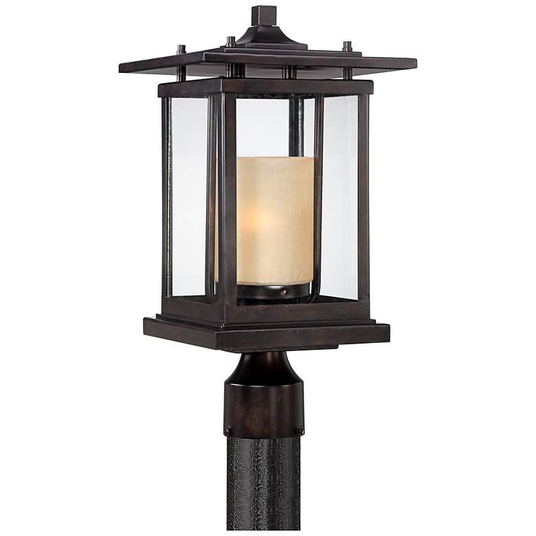 "Foxmoore Collection 17"" High Bronze Outdoor Post Light"