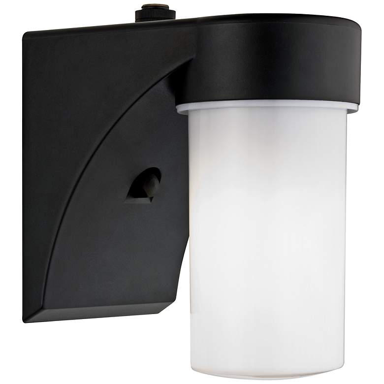 "Eltham Black 7 1/2"" High Dusk-to-Dawn Outdoor Wall Light ..."
