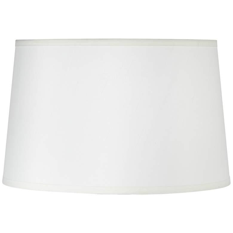 3J227 - Off-White Shantung Linen Drum Lamp Shade