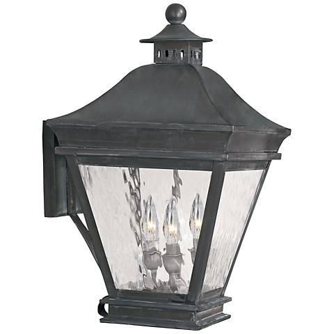 "Landings Collection 19 1/2"" High Charcoal Outdoor Wall Light"