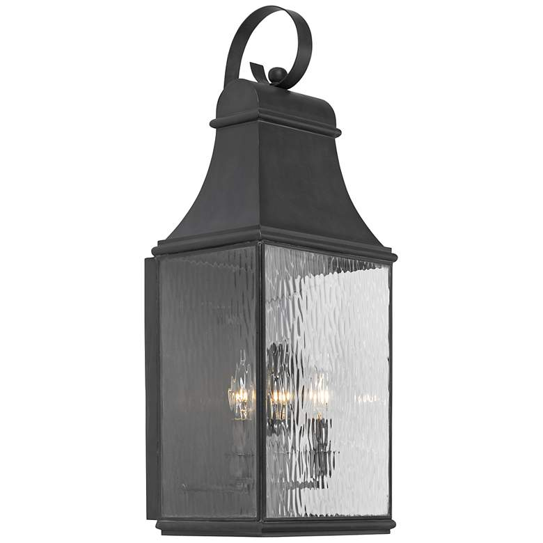 """Jefferson Collection 27"""" High Charcoal Outdoor Wall Light"""