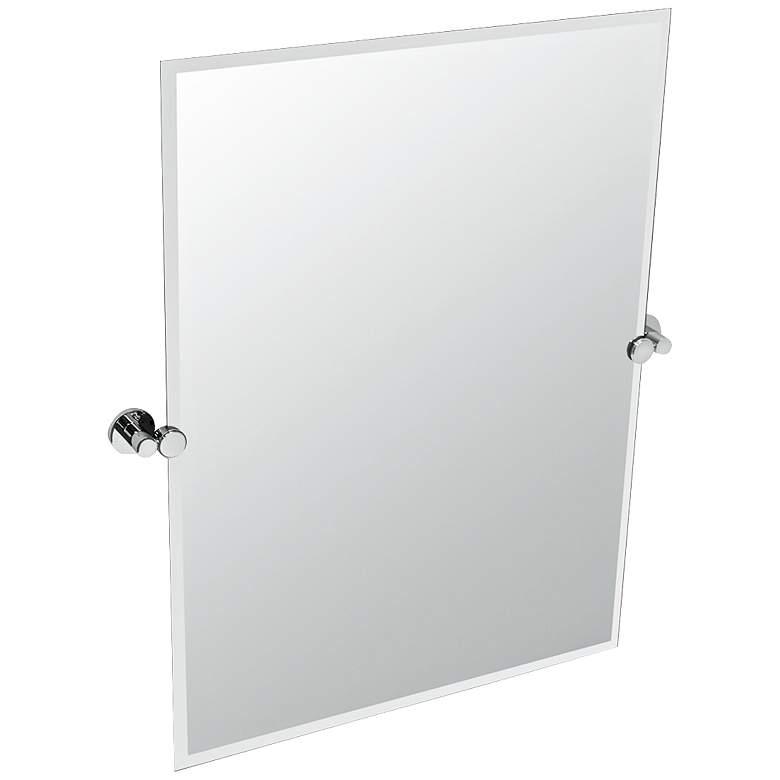 "Gatco Channel Chrome Frameless 23 1/2"" x 31 1/2"" Wall Mirror"