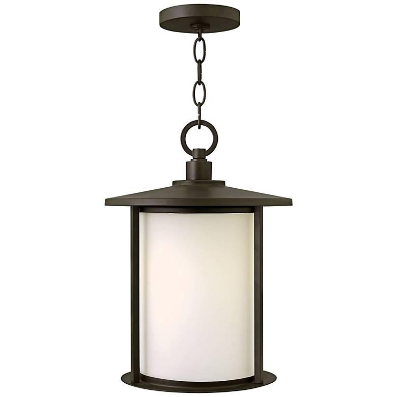 "Hinkley Hudson 15 1/2"" High Bronze Outdoor Hanging Light"