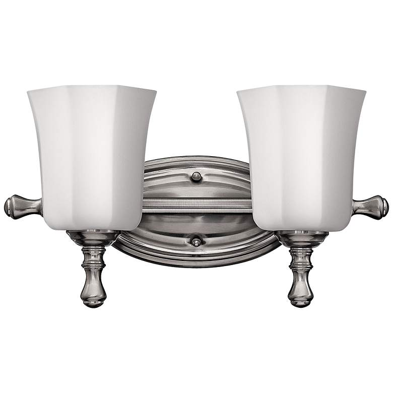 "Hinkley Shelly 16"" Wide Brushed Nickel 2-Light Bath"