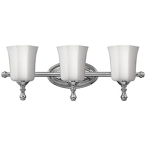 "Hinkley Shelly 24"" Wide Chrome 3-Light Bath Light"