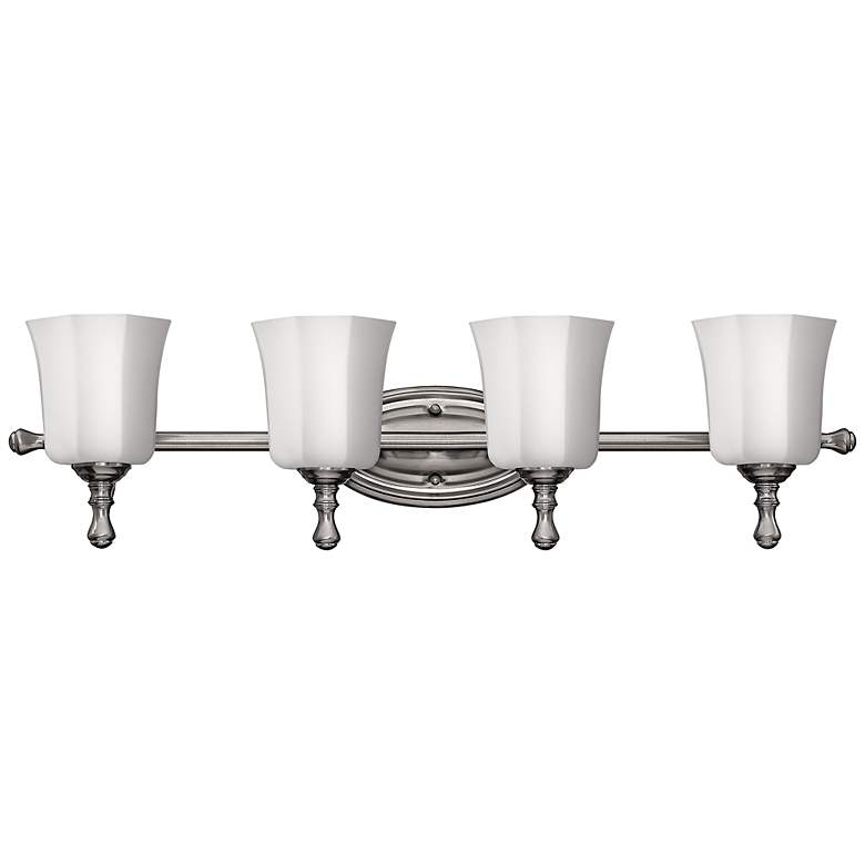 "Hinkley Shelly 32 1/4""W Brushed Nickel 4-Light Bath Light"