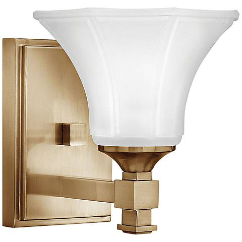 "Hinkley Abbie 7 3/4"" Brushed Caramel Wall Sconce"