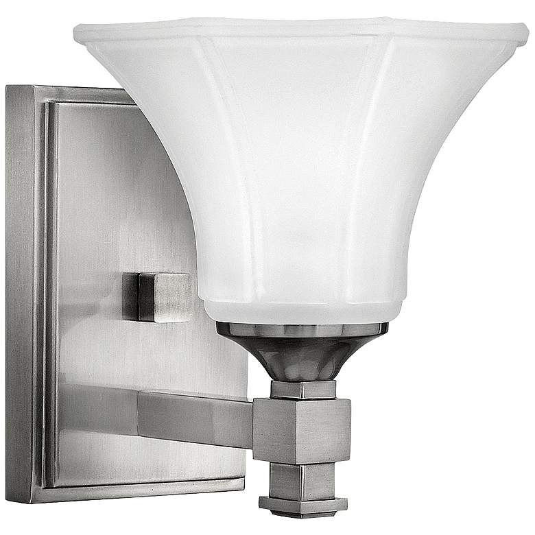 "Hinkley Abbie 7 3/4"" Brushed Nickel Wall Sconce"