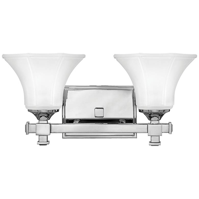 "Hinkley Abbie 16"" Wide Chrome 2-Light Bath Light"