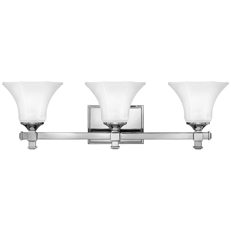"Hinkley Abbie 25 1/4"" Wide Chrome 3-Light Bath"
