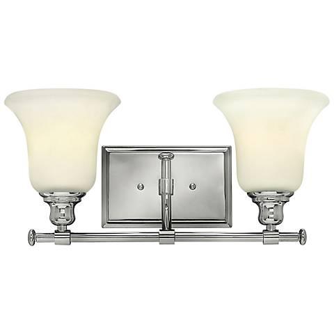 """Hinkley Colette 16 3/4"""" Wide Chrome 2-Light Bath Light"""