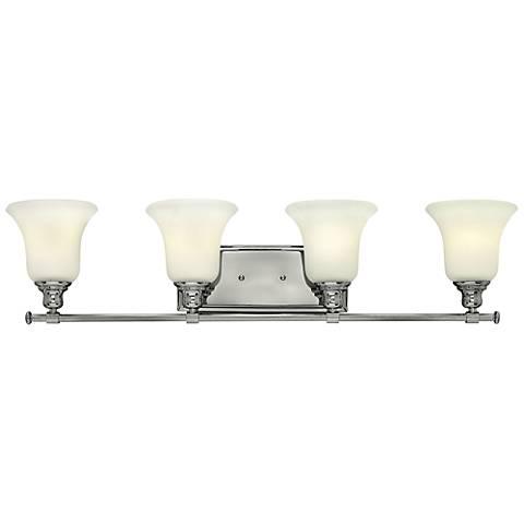 """Hinkley Colette 33 1/4"""" Wide Chrome 4-Light Bath Light"""