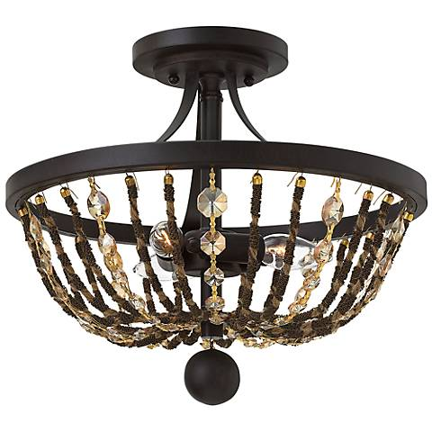 "Hinkley Hamlet 15"" Wide Vintage Bronze Ceiling Light"