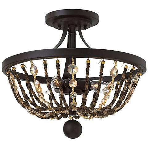 "Hinkley Hamlet 15"" Wide Vintage Bronze Ceiling Light"