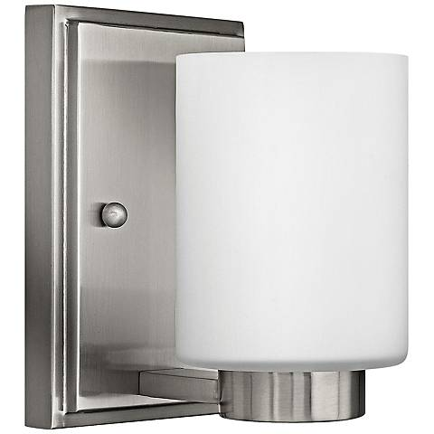 """Hinkley Miley 6 1/2"""" High Brushed Nickel Wall Sconce"""