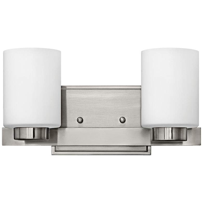 "Hinkley Miley 13"" Wide Brushed Nickel 2-Light Bath"