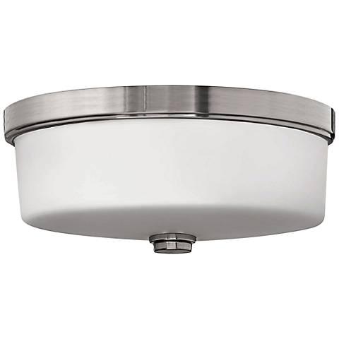"Hinkley Foyer 17"" Wide Brushed Nickel Ceiling Light"