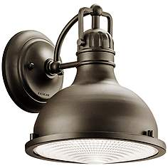 Kichler barn light outdoor lighting lamps plus kichler hatteras bay 9 12 high bronze outdoor wall light aloadofball Choice Image